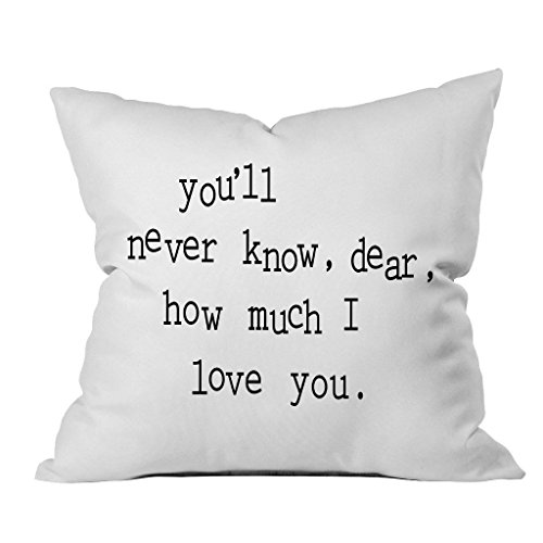 Carolina Quilted Sham (Oh, Susannah you'll never know, dear, how much I love you. 18x18 Inch Throw Pillow Cover)