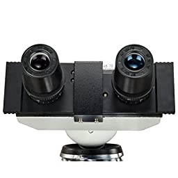 OMAX 40X-2500X Lab Binocular Biological Compound LED Microscope with 3D Mechanical Stage and Coaxial Coarse/Fine Focusing Knob
