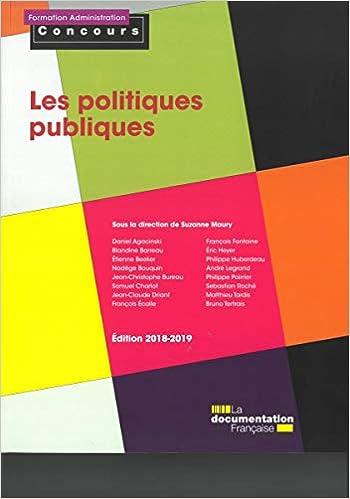 Amazon Fr Les Politiques Publiques Suzanne Maury