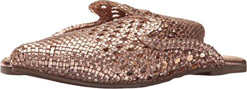 Sam Edelman Women's Navya Mule Rose Gold Metallic Woven Leather
