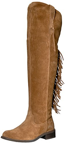 Ariat Women's Farrah Fringe Work Boot, Dirty Tan Suede, 11 B US by Ariat