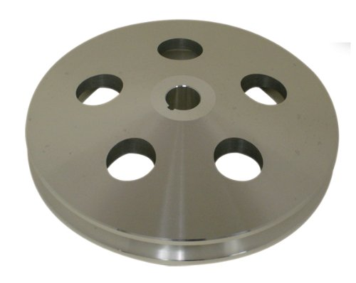 1955-72 CHEVY/GM ALUMINUM KEY-WAY POWER STEERING PUMP PULLEY - MACHINED (Aluminum Power Steering Pulley compare prices)