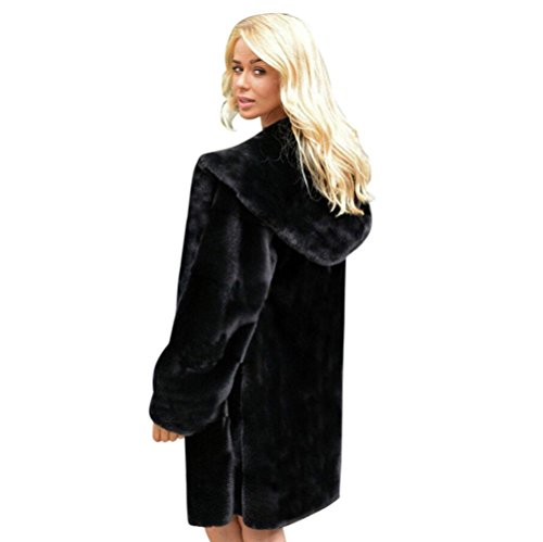 piel sintética de Parka mujer con para Abrigo Negro Streetwea Internert Abrigo Abrigos sólida capucha invierno mujer de de caliente Chaqueta nueva an0PvfWPpT