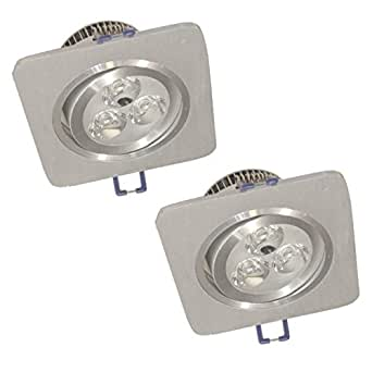Eco Light LED de techo empotrable Nantes, 2unidades, IP44apto para cuarto de baño, 240Lm, orientable 8017