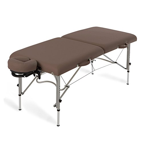 EARTHLITE Luna Portable Massage Table Package - Lightweight, Aluminum Frame incl. Face Cradle & Carry Case for up to 600lb by Earthlite