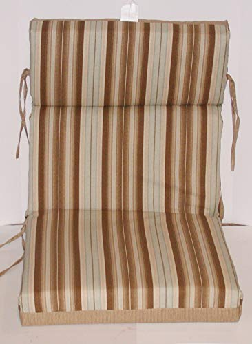 (6) Outdoor Hi-Back Reversible Chair Cushions ~ Cuban Sand ~ 21 x 44 x 4 New - High Back Patio Chair Cushions