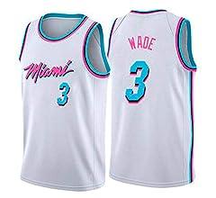 WOLFIRE WF Camiseta de Baloncesto para Hombre, NBA, Miami Heat #3 ...