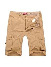 CATERTO Men's Active Cargo Shorts Cotton Outdoor Wear Lightweight