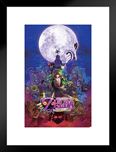 Pyramid America The Legend of Zelda Majoras Mask Nintendo Fantasy Video Game Series Link Princess Matted Framed Poster 20x26 inch ()