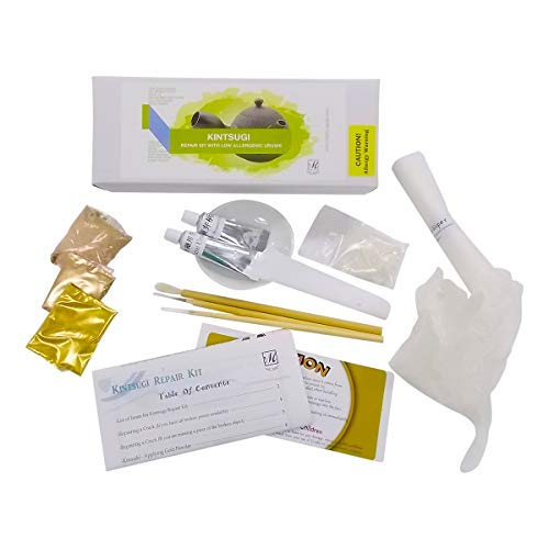 Kintsugi Repair Kit With Low Allergenic Japanese Urushi Lacquer From Japan, Kintsukuroi