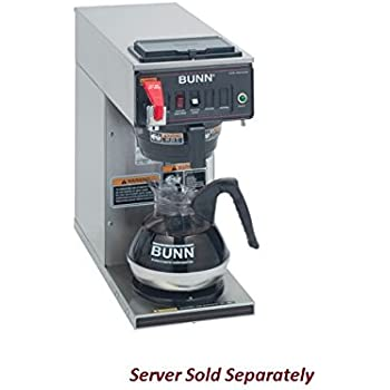 bunn cwtf1 automatic commercial coffee brewer with 1 warmer