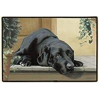 """Best Bags New Doormat Black Lab Indoor/Outdoor/Front Door Mat (L23.6""""X15.7""""W)"""