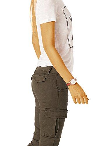 Army Uni Jeans Femme bestyledberlin Cargo OIUwa1