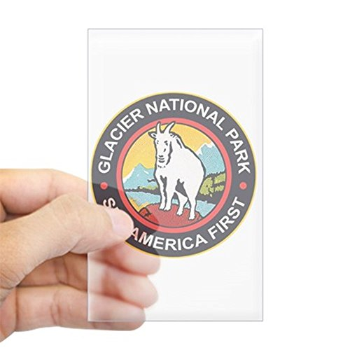Cafepress   Glacier National Park Montana Rectangle Sticker   Rectangle Bumper Sticker Car Decal