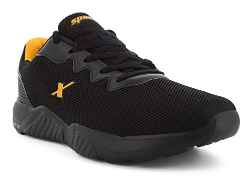 Sparx Men SM-648 Black Golden Sports Shoes