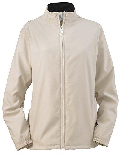 Ashworth Womens Clothing - Ashworth 5401C Ladies Full-Zip Lined Wind Jacket - Stone - M