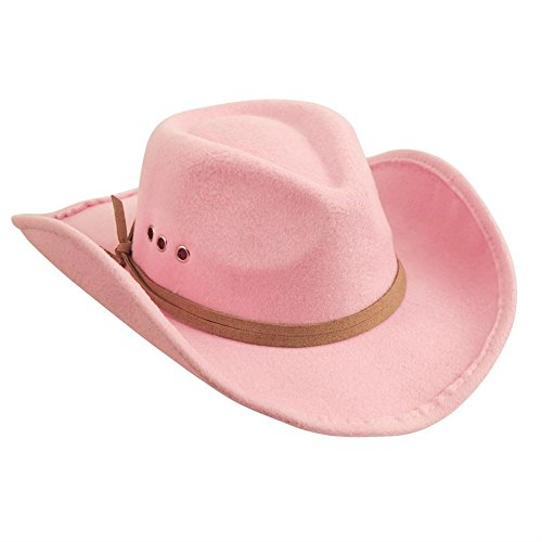 Mud Pie Girls Pink Cowboy Hat (3-7 Years) (Cowboy Outfit Kids)