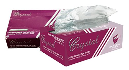 (Crystalware Premium Aluminum Foil, Pre-cut Pop Up Sheets, 12