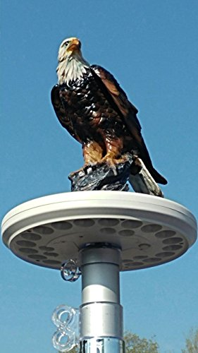 - Eagle on Display Flagpole Topper Finial Ball - Hand Painted USA Realistic Lifelike