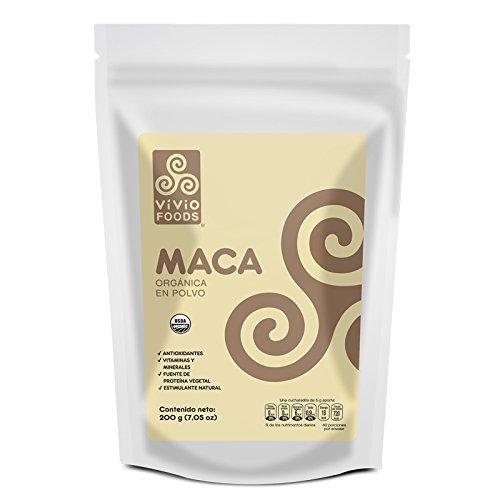 Vivio Foods, Maca Orgánica En Polvo, 200 gramos