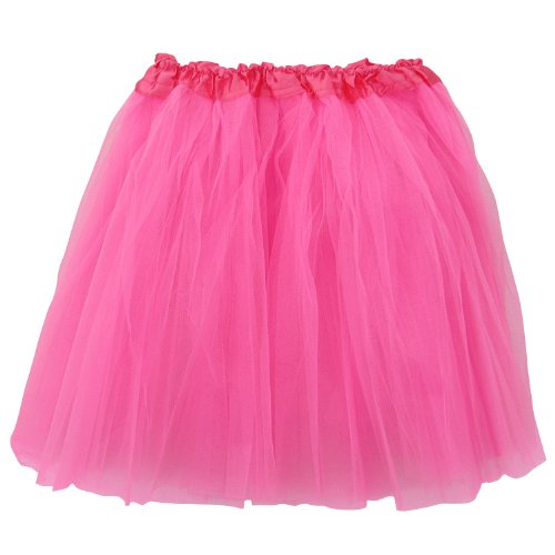 Plus Size Adult-Princess Costume Ballet Warrior Dash/Run-Tutu (Neon Pink),One Size]()