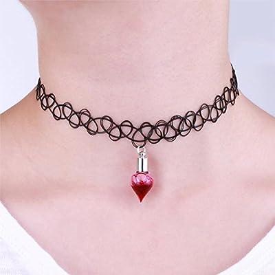 Wicemoon sangre collar botella de sangre de vampiro tatuaje collar ...