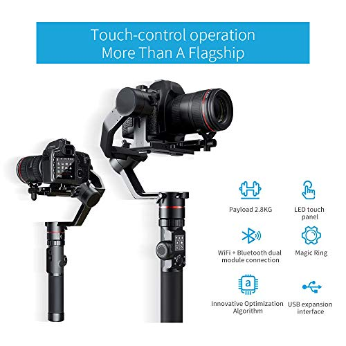 FeiyuTech Feiyu AK2000 DSLR Camera Gimbal 3-Axis Handheld Stabilizer with Tripod for Panasonic GH5 GH5S Sony A7 Canon 5D… 6