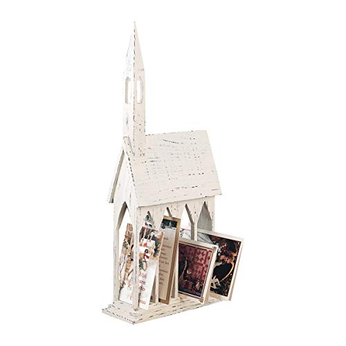 GALLERIE II Church Christmas Card Holder (Card Holiday Holder Stand)