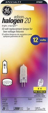 GE Halogen 12-Volt Bulb, 20 - Lamp Dana Bulb Light
