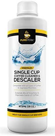 Pure Perk Coffee Machine Cleaner Descaling Solution for All Brands Including Keurig Cuisinart etc