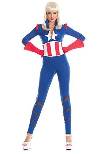 Womens Captivating Captain Costumes (3 Pc Captivating Captain Costume)