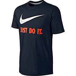 Nike Men's New Just Do It Jdi Swoosh T-shirt, Dark Obsidian, 2xl