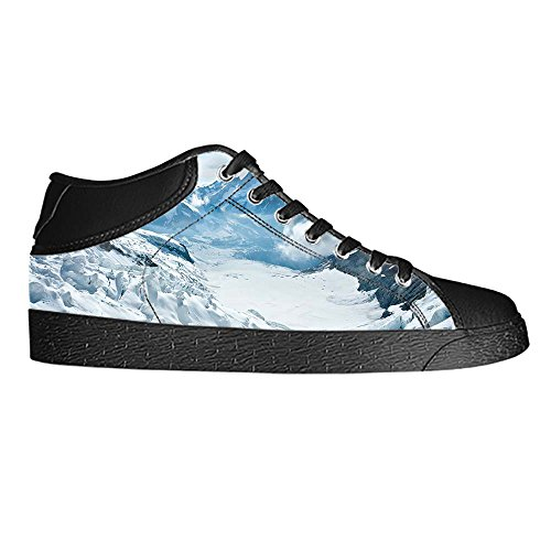 Dalliy schneebedeckte Berge Womens Canvas shoes Schuhe Lace-up High-top Footwear Sneakers E