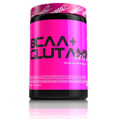 SHREDZ® BCAA + Glutamine Made For Women: Workout Recovery, Replenish Essential Amino Acids, Boost Energy - 30 Day Supply of Pink Lemonade