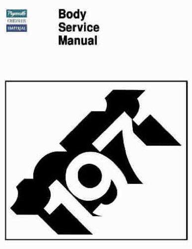 1971 PLYMOUTH BODY REPAIR SHOP & SERVICE MANUAL INCUDES: Road Runner, Grand Coupe, Duster (40), Valiant, 'Cuda, & Barracuda, Gran Sedan, Gran Coupe, Fury (I, II, & III), Suburban, Sport & Custom Suburban 71