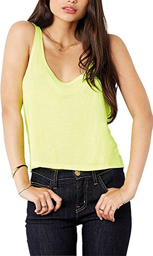 Bella Canvas Ladies Cropped cuerpo longitud Drapey Fit Flowy Boxy Tank Chaleco Top blanco