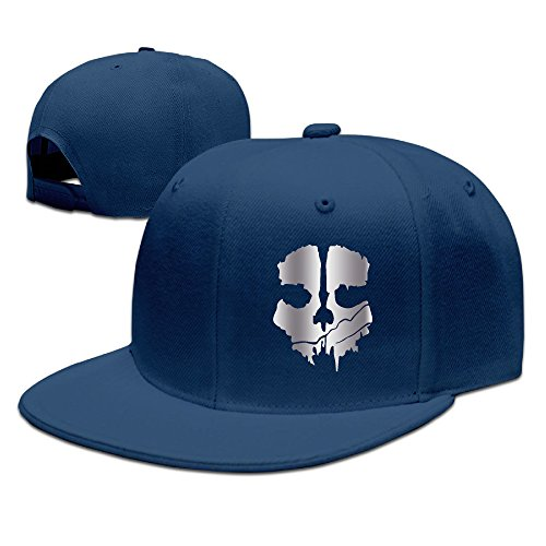 Price comparison product image Ghost Skull Call Of Duty Vi Platinum Style Baseball Snapback Cap Navy