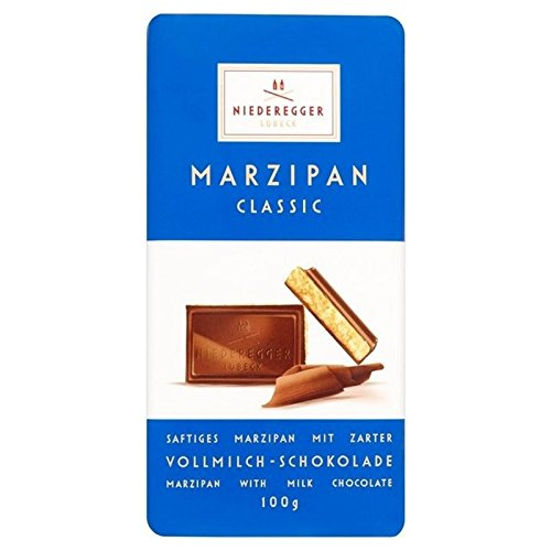 Niederegger Marzipan Milk Choc 100g - Pack of 6