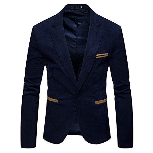 Hiver Velours Bouton Homme Un Manteau Marine Bazhahei Diner Costume Automne Elegant Casual Blazer Veste Affaires Côtelé Slim Jacket wH06tA