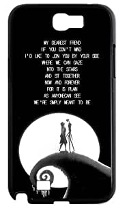 Romantic The Nightmare Before Christmas Samsung Galaxy Note2 N7100 Case Cover Jack Sally MOON Covers Quotes