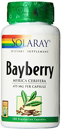 Solaray Bayberry Bark of Root Capsules, 475 mg, 100 Count - Root Herbal Supplement
