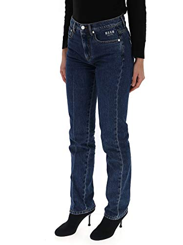 Mujer Algodon Jeans Azul 2641mdp55l19528489 Msgm RX0xqTwH5