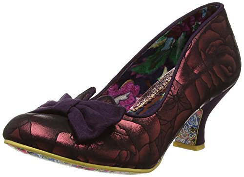 Irregular Choice Womens Dazzle Razzle Slip On Court Shoes Low Heels Red DzM2yybkp