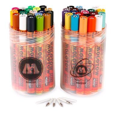Molotow One4All 127 Paint Markers, 40 Marker Pack from Graff-City by Molotow