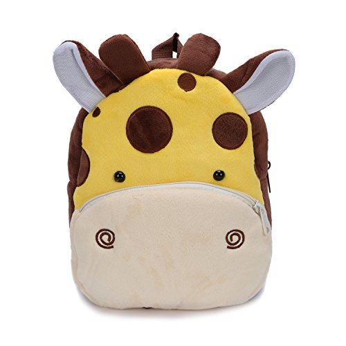 2 Giraffes (Cute Small Toddler Kids Backpack Plush Animal Cartoon Mini Children Bag for Baby Girl Boy Age 1-3 Years Yellow Giraffe)