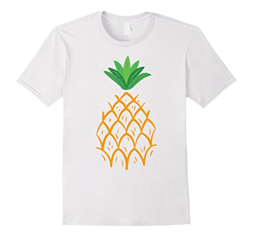 Pineapple Costume T Shirt (Mens Funny Halloween Pineapple Costume T-shirt Medium White)
