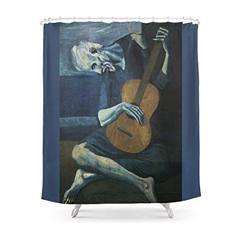 Fungaby Pablo Picasso - The Old Guitarist Shower Curtain 60
