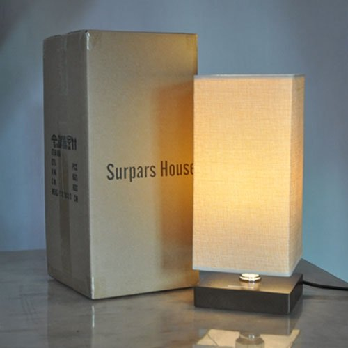 Surpars House Minimalist Solid Wood Table Lamp Bedside Desk Lamp by Surpars House (Image #4)