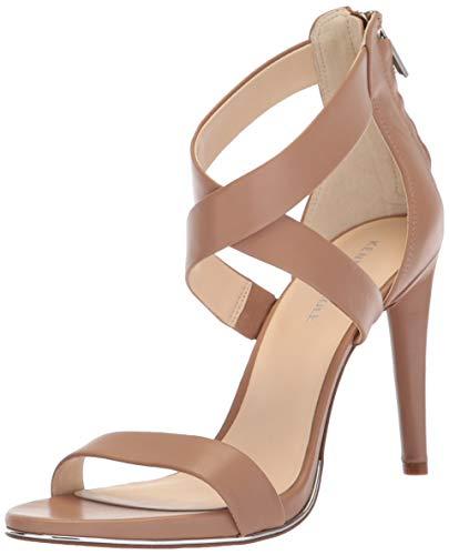 - Kenneth Cole New York Women's Brooke Cross Strap Dress Sandal Heeled, Latte, 8 M US