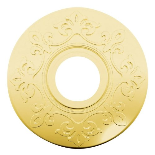 Brass Privacy Rosette (Baldwin R012.PV Pair of Estate Rosettes for Privacy Functions, Satin Brass and Black)